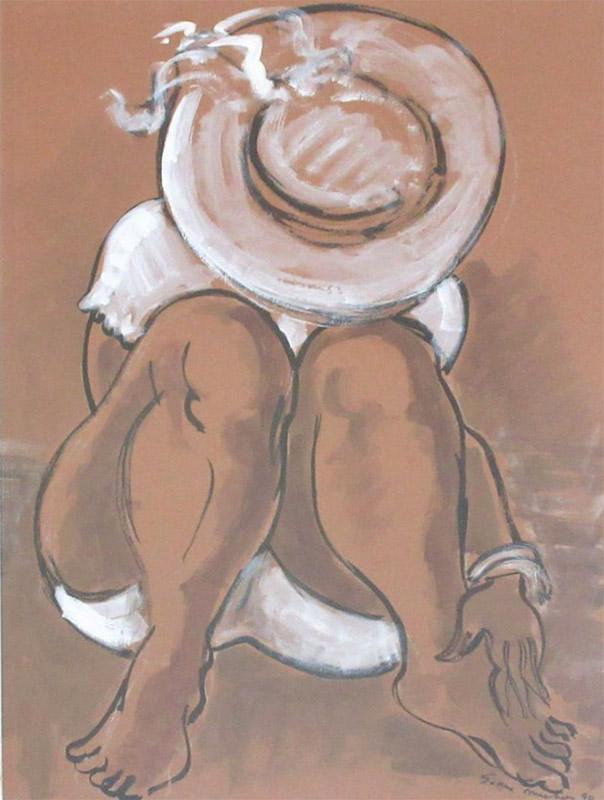 Jean-MICHON-la-fille-au-chapeau