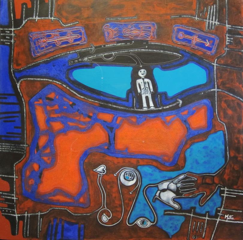 acrylique bois Le signe koneva 120X120