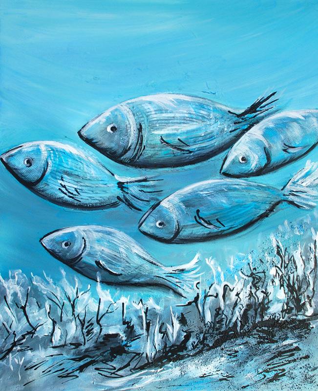 Heureux comme des poissons dans l'eau